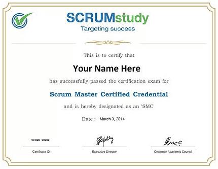 Certification in Scrum Master