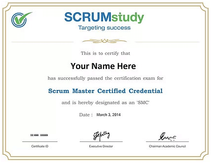 Certification in Scrum Master